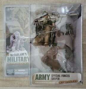 """NEW MCFARLANE'S MILITARY ARMY SPECIAL FORCES SNIPER 2005 7"""" 2ND TOUR FIGURE! s11"""