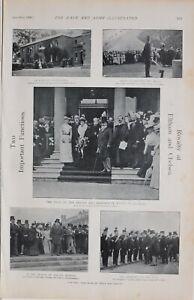 1900 Imprimé Royalty À Elthan & Chelsea Duke Of Cambridge Inspection Royal Naval