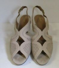 Clarks Artisan Tan Leather High Heels-Size 9.5M-Worn Once!