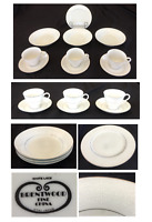 VINTAGE Brentwood Fine China Dinnerware WHITE LACE 10-Piece Set JAPAN