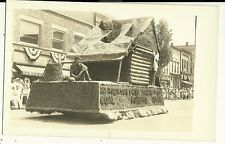 Real Photo Grand Haven MI Michigan 1934  Parade Float Postcard Coal Daniel Boon