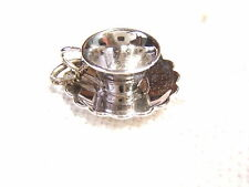 VINTAGE WELLS STERLING SILVER CHARM CUP & SAUCER