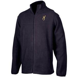 Browning Men's Black Fleece Jacket Coat, Buckmark Logo