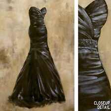 "24""x36"" EVENING ROMANCE II by PHILIP JENSEN STUNNING BLACK GOWN FASHION CANVAS"
