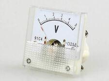2 pcs New Analog Volt Panel Meter Gauge DC 0~5V 91C4