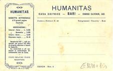 BARI  -  Casa Editrice HUMANITATIS - Corso Cavour, 145
