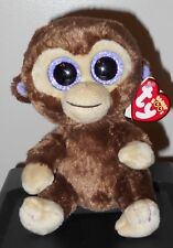 "Ty Beanie Boos ~ COCONUT the 6"" Monkey (UK TAGS ~ GLITTER/SPARKLY EYES) MWMT'S"