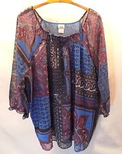 Dressy Adorable ONLY NECESSITIES Size 4X Lined Smock Top with Sleeves