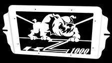 "cache / Grille de radiateur  inox poli Kawasaki Z1000 03>06 design ""Bulldog"""