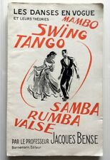 DANSES MAMBO SWING TANGO SAMBA RUMBA VALSE LIVRE ILLUSTRE BOOK CONSEILS THEORIES