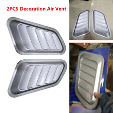 Car Decorative Air Flow Intake Scoop Turbo Bonnet Vent Cover Hood Fender Pretty