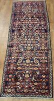 Traditional Vintage Wool Handmade Classic Oriental Area Rug Carpet 247 X 61 cm