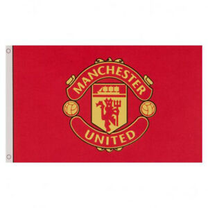 MANCHESTER UNITED 3ft x 5ft TEAM CREST FLAG/BANNER OFFICIALLY LICENSED