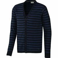 ADIDAS NEO HOMME SLIM FIT cardigan à rayures tricot bleu marine XS & PETIT