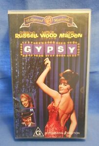 Gypsy VHS Hollywood Musicals Rosalind Russell, Natalie Wood, Karl Malden - New