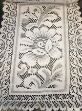 """2 Pcs Table Placement Doily Mat White 13x19""""  Polyester New"""