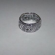 Carolyn Pollack CP Signature Sterling Silver Band Ring Size 10