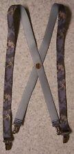 """Suspenders Children & Junior 1""""x36"""" FULLY Elastic Digital Urban Camouflage NEW"""
