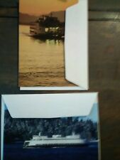 Lot Of 2 Christmas Cards From Our Washington State Ferries