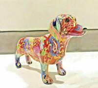 Groovy Art DACHSHUND Ornament Figurine Sausage Dog Puppy Statue Gift Boxed 26cm
