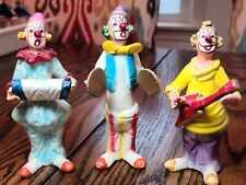 Vintage Lot Of 3 Clown Musician Figurines Large