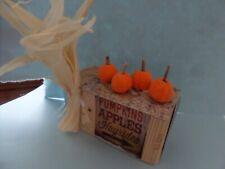 Halloween Pumpkin Stand. Dollhouse Miniatures 1:12 scale Gailslittlestuff