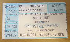 1989 THE PETROL EMOTION SEATTLE CONCERT TICKET STUB MANIC POP THRILL KEEN V2 1