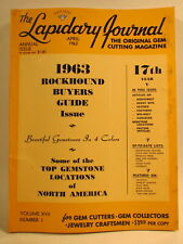 Lapidary Journal Magazine 1963 April 1963 Rockhound Buyers Guide