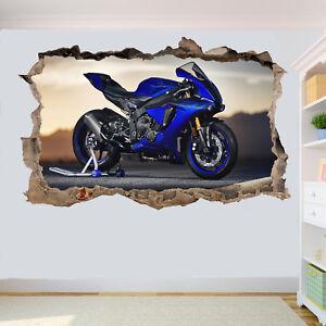 SUPER FAST YZF MOTORBIKE STICKER POSTER 3D ART MURAL DECAL ROOM OFFICE DECOR UA9