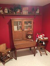 Antique Oak Hoosier Beauty Kitchen Cabinet organizer LOCAL PICK UP ONLY