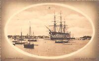 POSTCARD     HAMPSHIRE   PORTSMOUTH   Harbour  &  HMS  St  Vincent