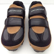 Specialized Womens Bicycle Shoe. Size US 6 (EUR 38). Black/Tan Suede