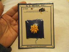 2 1966 Meyer Nos Us Navy Blue/Gold Major Oak Leaf Insignia Patch-Vietnam Era-be