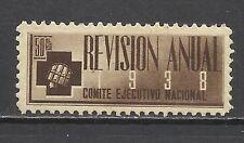 4083-SPAIN POLITICAL LABEL S.I.A.1938 .ANTIFASCISTA COMITE EJECUTIVO NACIONAL *
