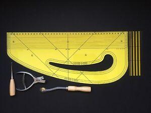 Pattern Maker Fashion Master + Tracing Wheel + Notcher + Awl + Seam Ruler