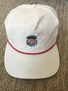 Bel Air Country Club Rope Hat, White, Great condition