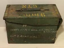 Vintage 9mm military ammo box