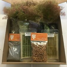 Modellers Scenery Bundle A- Railway Wargames Seafoam Grass Tufts Flock Static