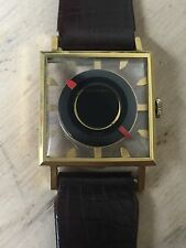 RARE Vintage Gold Plated Juvenia Cal. 765 Square Mystery Skeleton Dial Watch