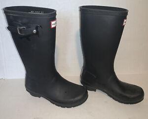 Hunter Original Kids  Navy Wellington Boots Rubber Rain Wellies Sz 3