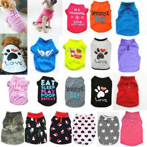 Pet Dog Vest T-shirt Puppy Cat Small Dog Clothes Harness Leash Pug Coat Jacket..