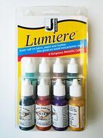 Jacquard Lumiere Mini Exciter Pack (8 x 14 ml bottle set) Metallic fabric paint