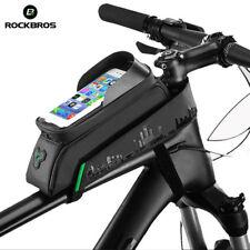 ROCKBROS Bike Bag Cycling Top Tube Frame Bag TouchScreen 6.0' Phone Case Black