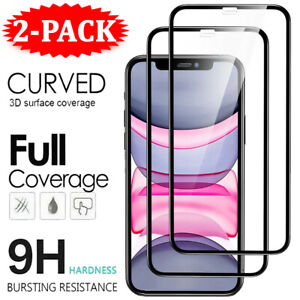 For iPhone 13 12 11 Pro X XR XS Max Tempered Glass FULL COVER Screen Protector