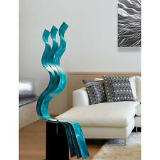 Large Abstract Metal Garden Sculpture - Indoor/Outdoor Art - Aqua Transitions