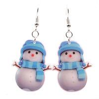 Christmas Snowman Drop Dangle Earrings Ear Stud Earrings Gift Women JewelryPYW