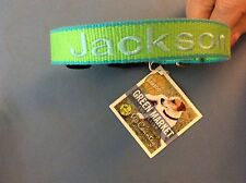 New listing Nwt-Up Country Green Market Dog Collar personalized- Jackson