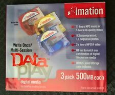Imation Dataplay disc 3 pieces - 3 Pack - Brand New Sealed