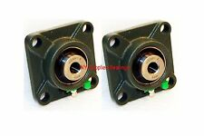 "1/2"" UCF201-8 Quality Square Flange 4 Bolts UCF201 Block Bearing (Qty 2 pcs)"
