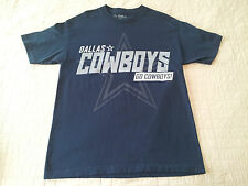 INV429- Dallas Cowboys Authentic T Shirt sz Large NFL EUC Football 2013 Schedule